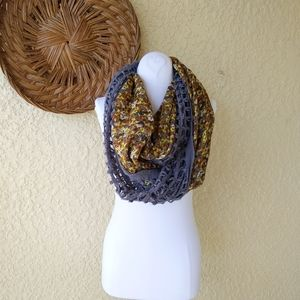 Urban outfiters Kimichi blue scarve knitted floral